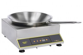 Photo d'une plaque induction wok professionnelle, un feu et transportable